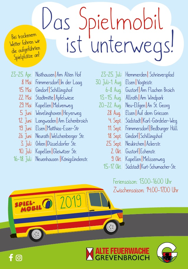 Grafik Spielmobil Tourplan 2019